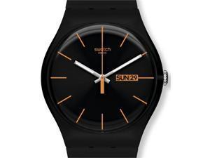 Swatch Dark Rebel Black Silicone Unisex Watch SUOB704