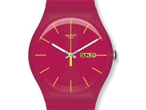 Swatch Rubine Rebel Pink Silicone Unisex Watch SUOR704