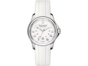Swiss Army Victorinox Officers Rubber Ladies Watch 241366