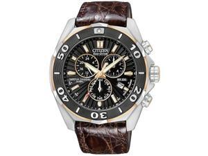 Citizen Signature Eco-Drive Perpetual Chronograph Mens Watch BL5446-01E
