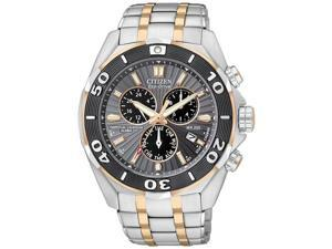 Citizen Signature Eco-Drive Perpetual Chronograph Mens Watch BL5446-51H