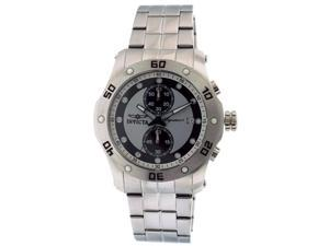 Invicta Signature II Chronograph Black and Silver Dial Steel Mens Watch 7382