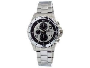 Invicta Signature II Chronograph Silver-tone & Black Dial Steel Mens Watch 7388