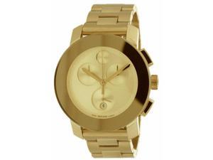Movado Bold Gold-Tone Chronograph Unisex Watch 3600076