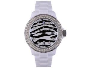 Toywatch Plasteramic Zebra Crystal Ladies Watch TS05WH