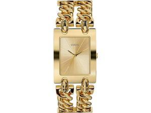 GUESS Gold Tone Double Link Ladies Watch U12648L1
