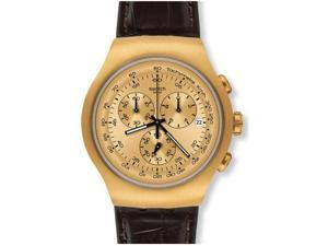 Swatch Golden Hide Gold Mens Watch YOG402