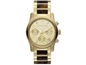 Michael Kors Runway Tortoiseshell Chronograph Ladies Watch MK5659