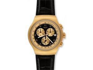 Swatch Golden Hide Black Mens Watch YOG403