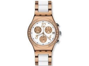 Swatch Dreamwhite Rose Chronograph Ladies Watch YCG406G