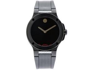 Movado 0606492 Black Stainles Steel Case Black Dial Automatic Black Rubber Strap