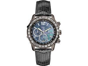 GUESS Gunmetal Textured Leather Chronograph Ladies Watch U0017L3