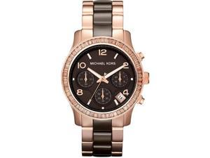 Michael Kors Runway Ceramic Rose Gold-Tone Ladies Watch MK5678