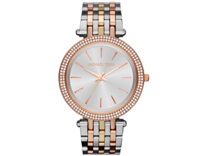 Michael Kors Tri-Tone Crystal Ladies Watch MK3203