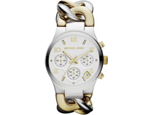 Michael Kors Twist Chain  Chronograph White Dial Ladies Watch MK3199