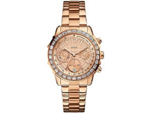 GUESS Rose Gold Tone Chronograph Ladies Watch U0016L5