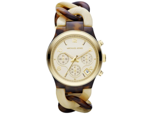 Michael Kors Runway Tortoise Twist Chain Link Ladies Watch MK4270