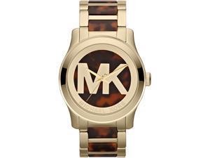 Michael Kors Runway Horn Logo Dial Ladies Watch MK5788