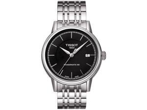 Tissot T Classic Powermatic Automatic Black Dial Steel Mens Watch T0854071105100