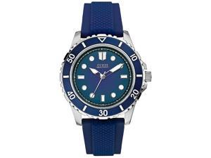 GUESS Blue Silicone Mens Watch U0245G5