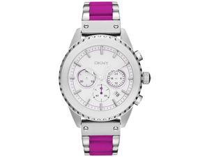 DKNY Fuschia Silicone Chronograph Ladies Watch NY8763