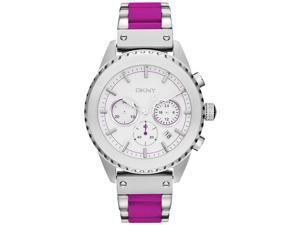 DKNY Fuschia Silicone Chronograph Ladies Watch NY8763