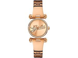 Guess Rose Dial Rose Gold-tone Ladies Watch U0287L3
