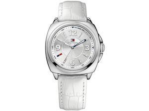 Tommy Hilfiger White Leather Ladies Watch 1781335