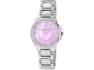 Anne Klein Stainless Steel Swarovski Ladies Watch 10-9661PMSV