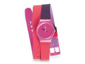 Swatch Women's Originals LP137 Two-Tone Silicone Swiss Quartz Watch with Pink Dial