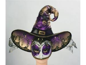 Venetian Witch Masquerade Costume Half Mask