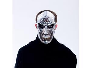 Maniacs PVC Molded Metallic Silver Zombie Adult Costume Mask