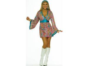 Wild Swirl Dress Adult Costume - X-Small/Small