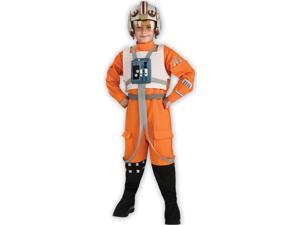 Star Wars Deluxe Orange Flight Suit Child Medium Costume