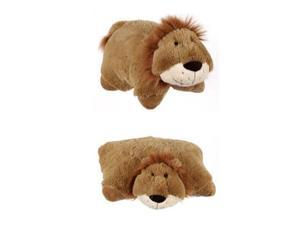 "My Plush Pillow Pet Large 18"" Square Cowardly Lion Plush Pillow"