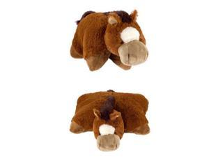 "My Plush Pillow Pet Large 18"" Square Sir Horse Plush Pillow"