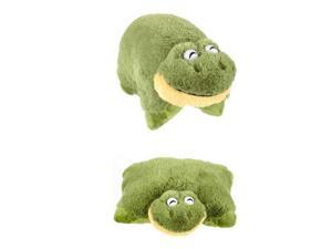 "My Plush Pillow Pet Large 18"" Square Friendly Frog Plush Pillow"