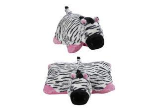 "My Plush Pillow Pet Large 18"" Square Pink Zippity Zebra Plush Pillow"