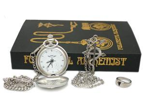 Full Metal Alchemist Watch, Necklace & Ring Set
