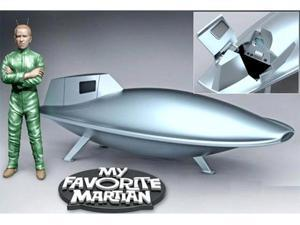 My Favorite Martian Uncle Martin & Spaceship 1/18 Scale Plastic Model Kit