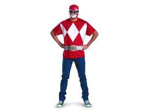Power Rangers Red Ranger T-Shirt & Mask Adult Costume Set
