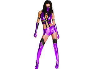 Sexy Womens Mortal Kombat Mileena Costume