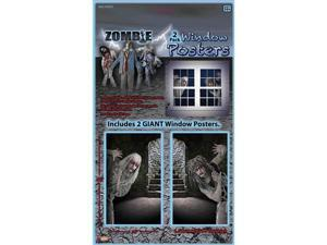 Giant Zombie Window Posters Halloween Party Prop Decoration 2 Pack