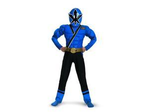 Power Rangers Blue Ranger Samurai Classic Muscle Child Costume