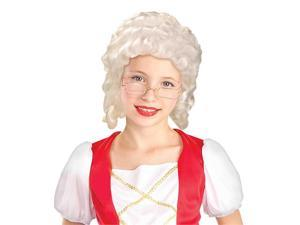 Colonial Girl Child Costume White Wig