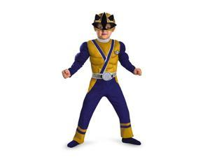 Power Rangers Gold Ranger Samurai Muscle Chest Costume Child Toddler