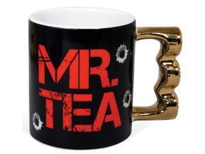 Mr. Tea Brass Knuckle 16 Oz Ceramic Coffee Mug