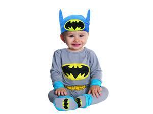 Batman Grey & Blue Onesie Costume Infant: 0-6 Months