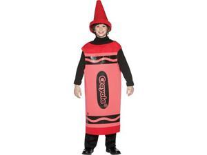 Red Crayola Crayon Child Costume Tween 10-12