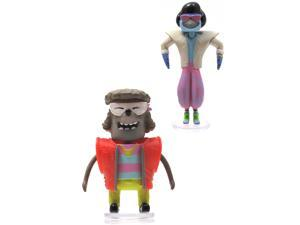 "Regular Show 3"" Bobble Heads With Glasses Set Of 2"